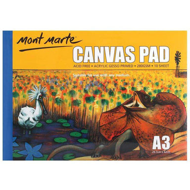 Buy onilne Mont Marte Canvas Pad 10 Sheet A3 | Dollars and Sense cheap and low prices in australia