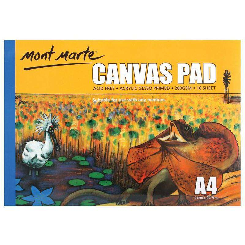 Buy onilne Mont Marte Canvas Pad 10 Sheet A4 | Dollars and Sense cheap and low prices in australia