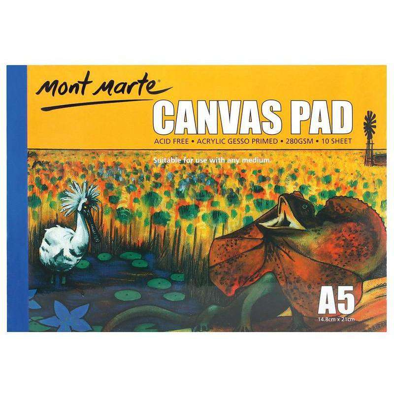 Buy onilne Mont Marte Canvas Pad 10 Sheet A5 | Dollars and Sense cheap and low prices in australia