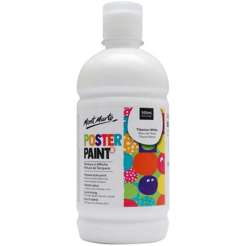 Poster Paint 500ml (16.91oz) - Titanium White