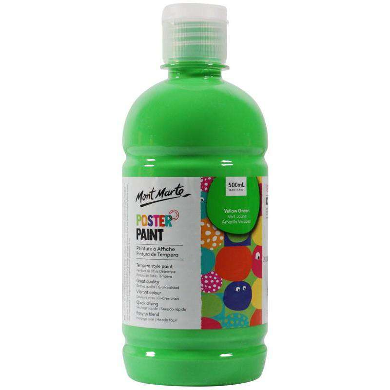 Poster Paint 500ml (16.91oz) - Yellow Green