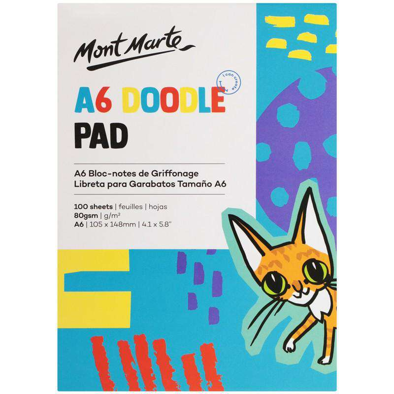 Buy onilne Mont Marte Mont Marte Doodle Pad A6 100 Sheet 80gsm | Dollars and Sense cheap and low prices in australia