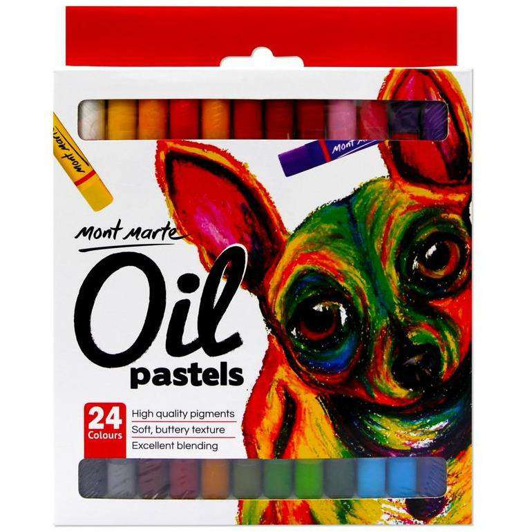 Buy onilne Mont Marte Oil Pastels 24pce | Dollars and Sense cheap and low prices in australia