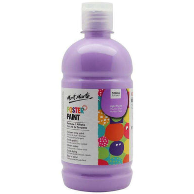 Buy onilne Mont Marte Poster Paint 500ml (16.91oz) - Light Purple | Dollars and Sense cheap and low prices in australia