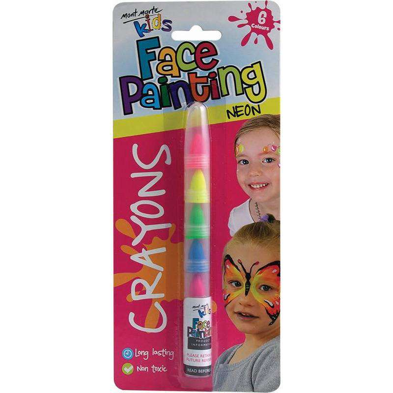 Buy Cheap art & craft online | Kids Face Painting Crayons - Neon|  Dollars and Sense cheap and low prices in australia