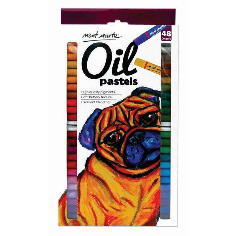 Buy onilne Mont Marte Oil Pastels 48pce | Dollars and Sense cheap and low prices in australia