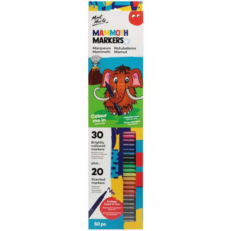 Buy onilne Mont Marte Mammoth Markers Set 50 Piece | Dollars and Sense cheap and low prices in australia