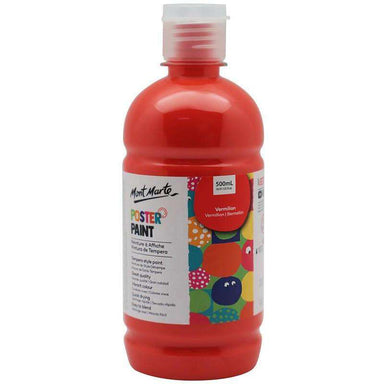 Buy onilne Mont Marte Poster Paint 500ml (16.91oz) - Vermilion | Dollars and Sense cheap and low prices in australia
