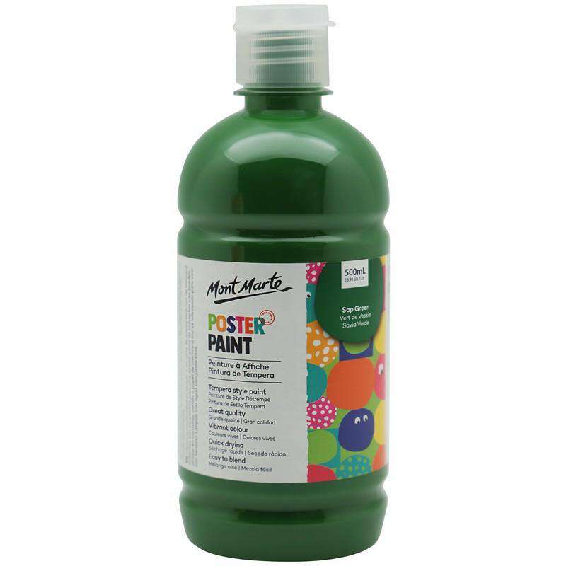 Mont Marte Poster Paint Sap Green 500ml