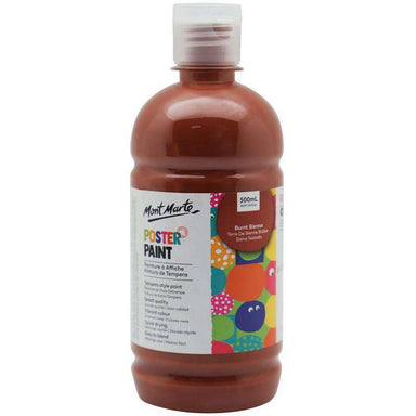Buy onilne Mont Marte Poster Paint 500ml (16.91oz) - Burnt Sienna | Dollars and Sense cheap and low prices in australia