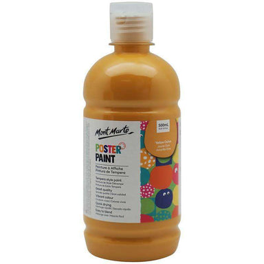 Buy onilne Mont Marte Poster Paint 500ml (16.91oz) - Yellow Ochre | Dollars and Sense cheap and low prices in australia