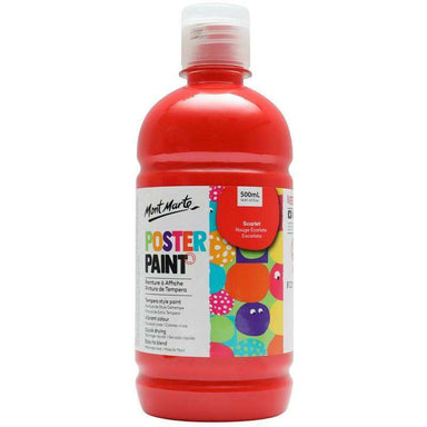 Buy onilne Mont Marte Poster Paint 500ml (16.91oz) - Scarlet | Dollars and Sense cheap and low prices in australia