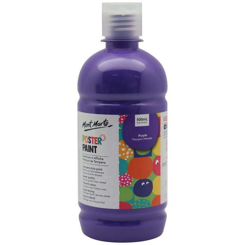 Mont Marte Poster Paint Purple 500ml