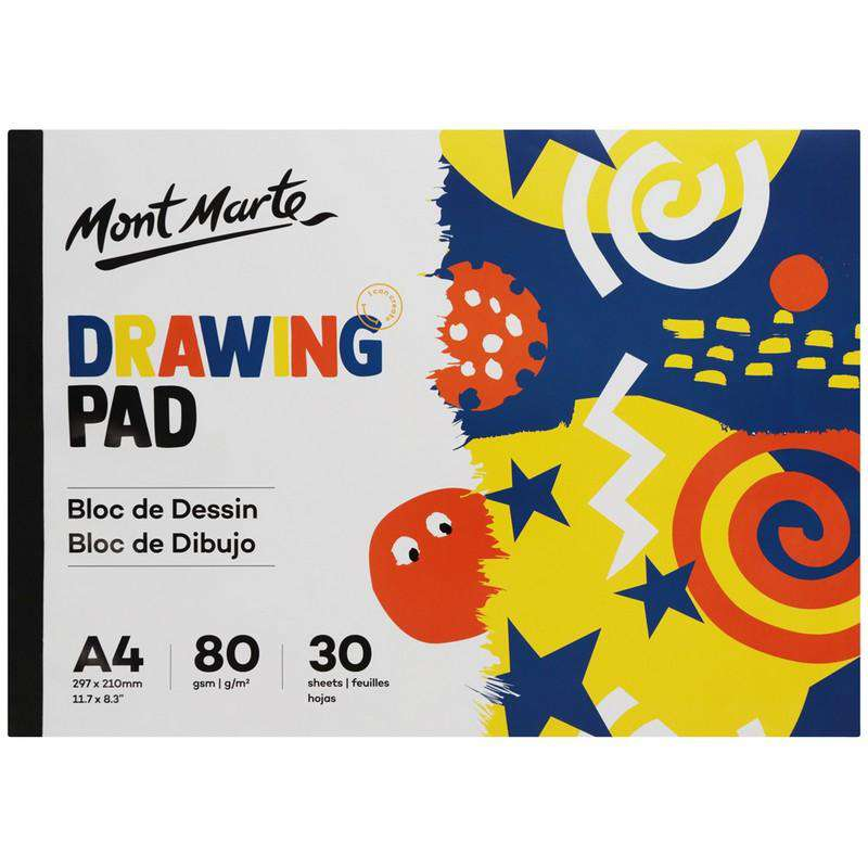 Buy onilne Mont Marte Mont Marte A4 Drawing Pad 30 Sheets 80gsm | Dollars and Sense cheap and low prices in australia