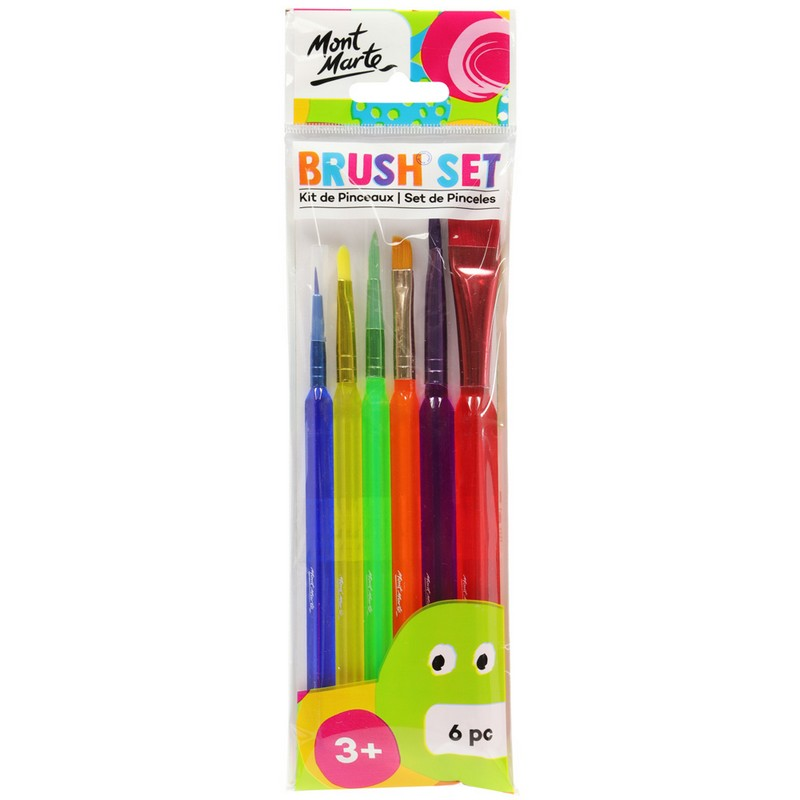 Buy onilne Mont Marte Mont Marte Kids Brush Set 6pcs | Dollars and Sense cheap and low prices in australia