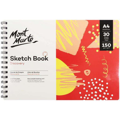 Buy onilne Mont Marte Discovery Sketch Book A4 (8.3 x 11.7in) 30 Sheets 150gsm | Dollars and Sense cheap and low prices in australia