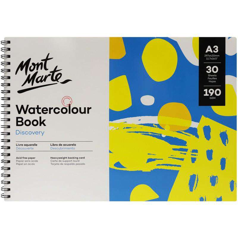 Buy onilne Mont Marte Mont Marte A3 Watercolour Book 190gsm 30 Sheets | Dollars and Sense cheap and low prices in australia