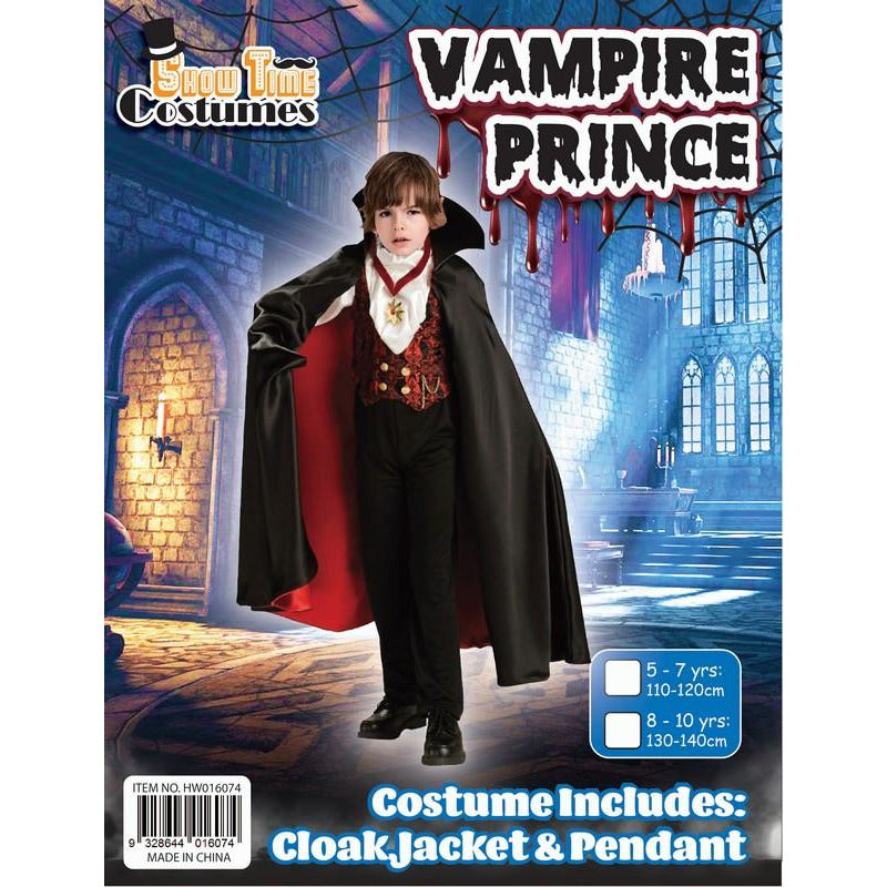 Halloween Boys Vampire Prince Costume| Dollars and Sense