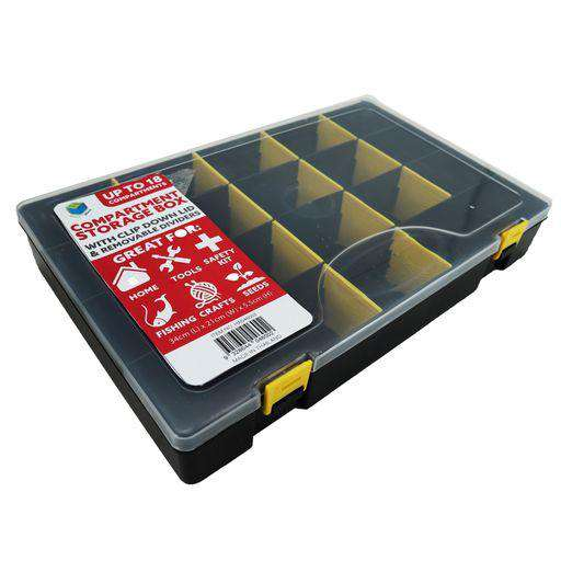 Storage Compartment Box Black 34x21x5cm