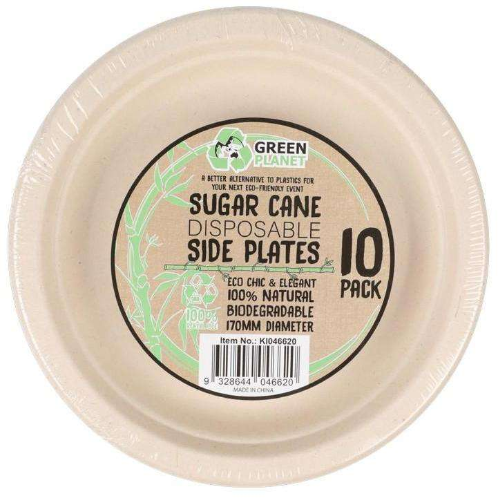 Sugar Cane Party Disposable Side Plates 10 Pack