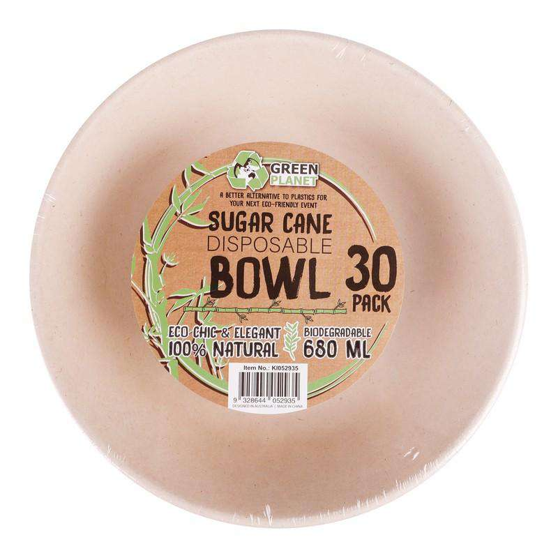 Sugar Cane Party Disposable Bowls 30 Pack