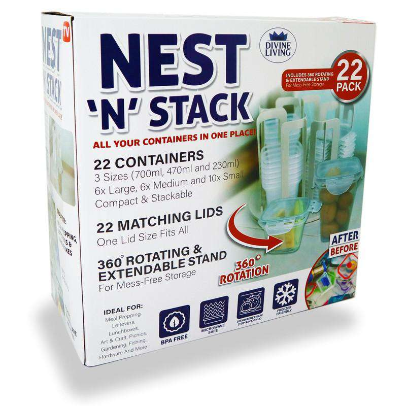 Nest N Stack Plastic Container Set 22 Pieces