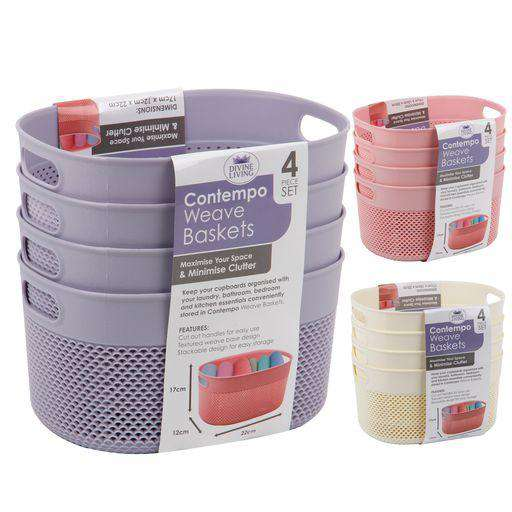 Contempo Basket 3.5L 4Pk