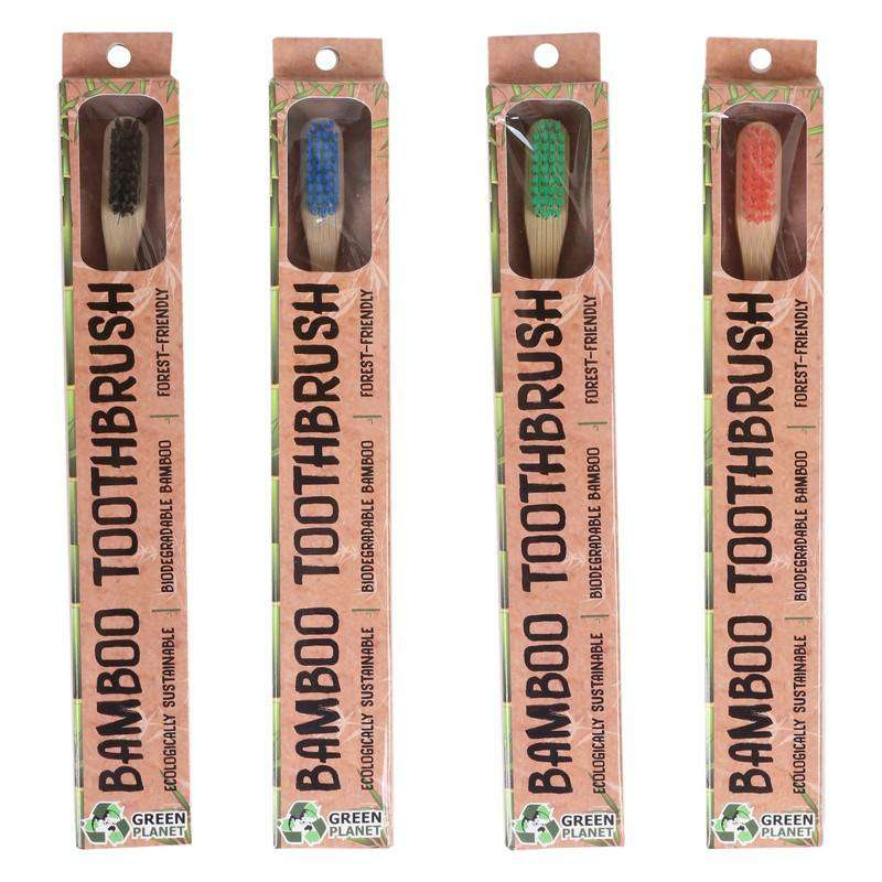 Bamboo Toothbrush Assorted Colours