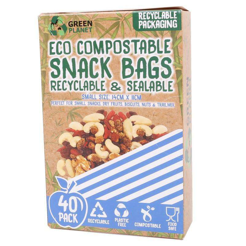 Compostable Snack Bags Small 40 Pack