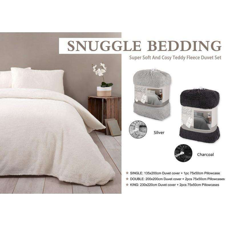 Snuggle Bed Set Single Silver