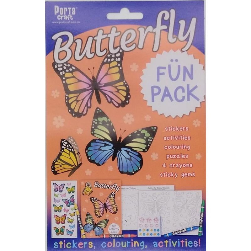 Buy Cheap art & craft online | Butterfly Fun Pack Stickers Colouring and Activities|  Dollars and Sense cheap and low prices in australia