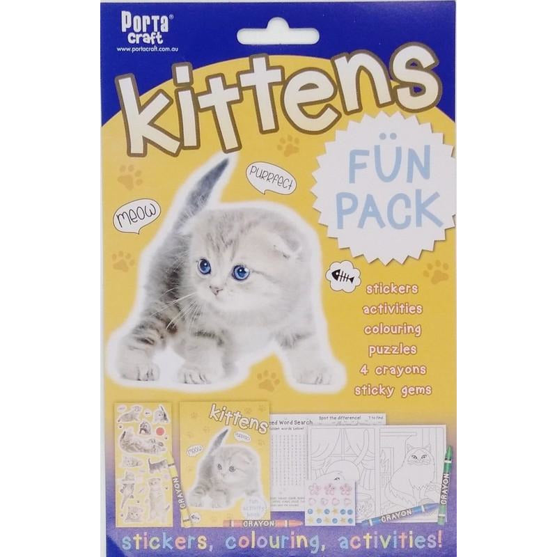 Buy Cheap art & craft online | Kittens Fun Pack Stickers Colouring and Activities|  Dollars and Sense cheap and low prices in australia