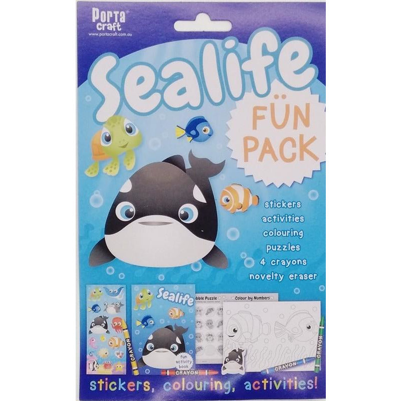 Buy Cheap art & craft online | Sealife Fun Pack Stickers Colouring and Activities|  Dollars and Sense cheap and low prices in australia
