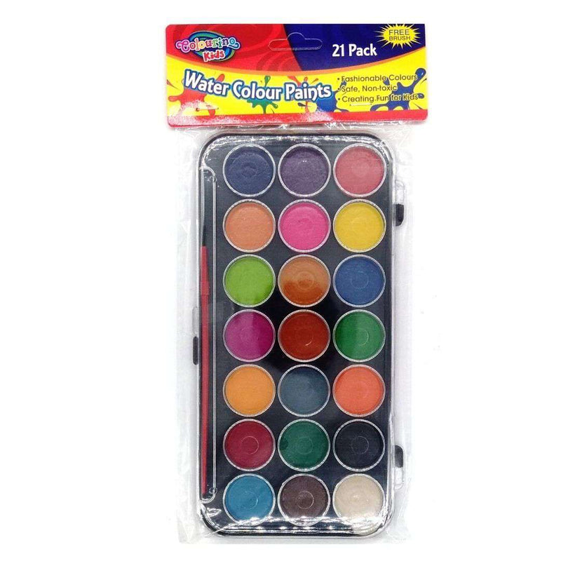 Buy Cheap art & craft online | Water Colour Paint Set 21 Colours|  Dollars and Sense cheap and low prices in australia