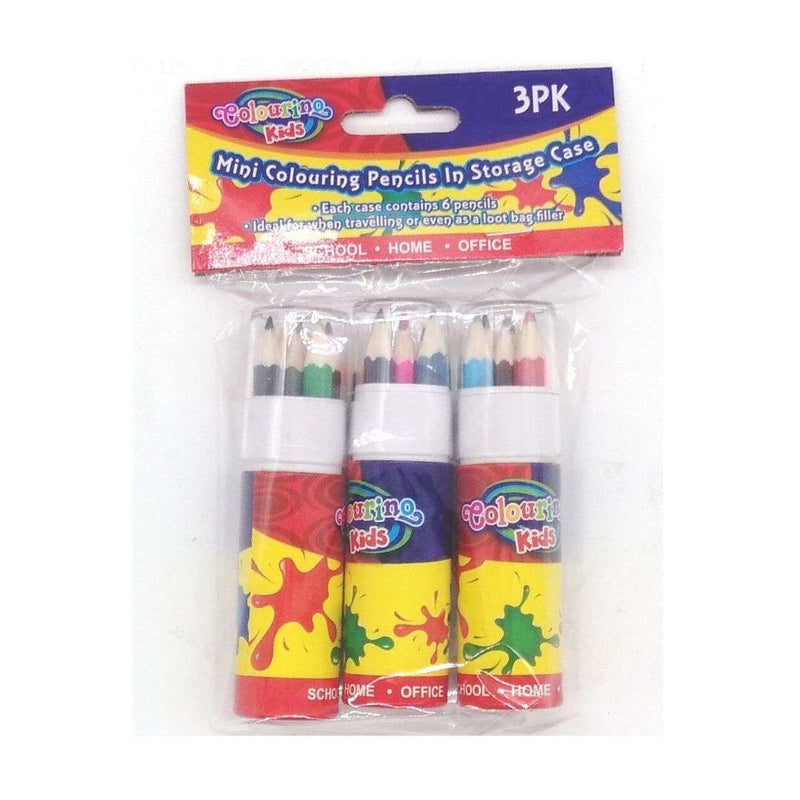 Buy Cheap art & craft online | Pack of 3 6PK Mini Colouring Pencils In Tube Series|  Dollars and Sense cheap and low prices in australia