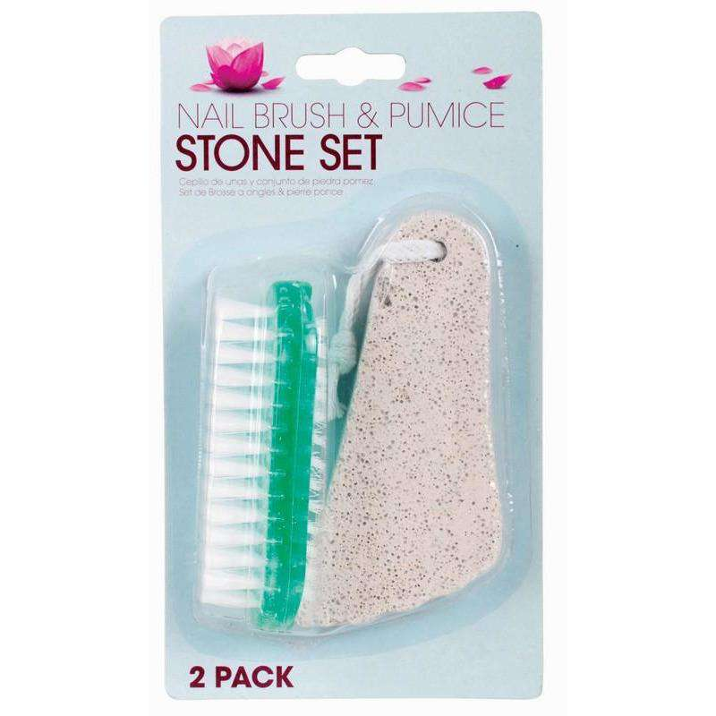 Nail Brush and Pumice Stone Set