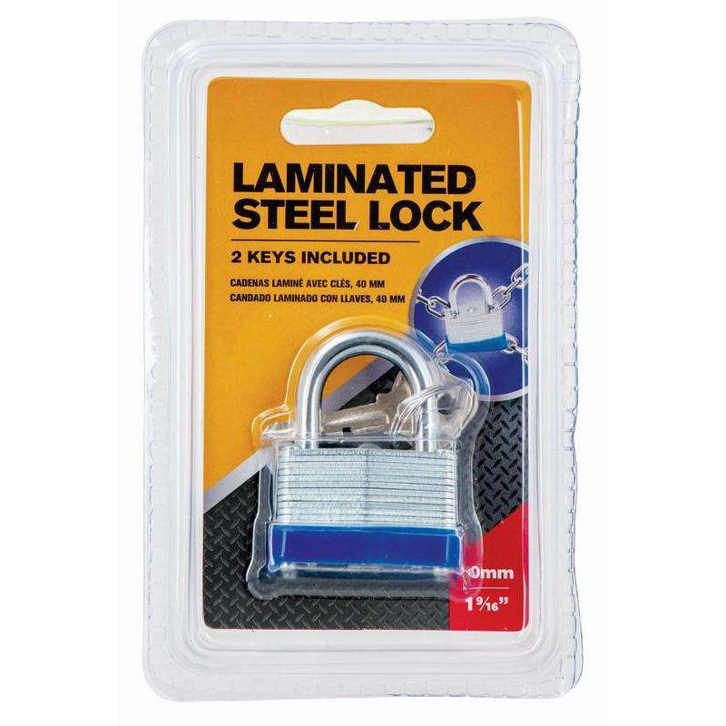 Padlock Laminated with Keys 40mm