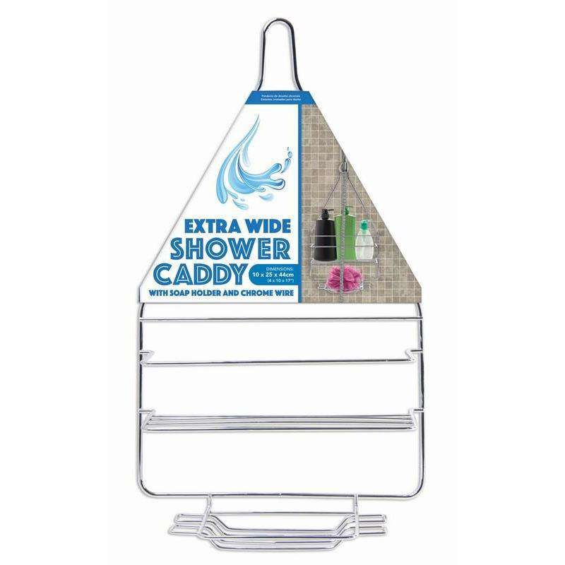 Shower Caddy Chrome 10x25x44cm