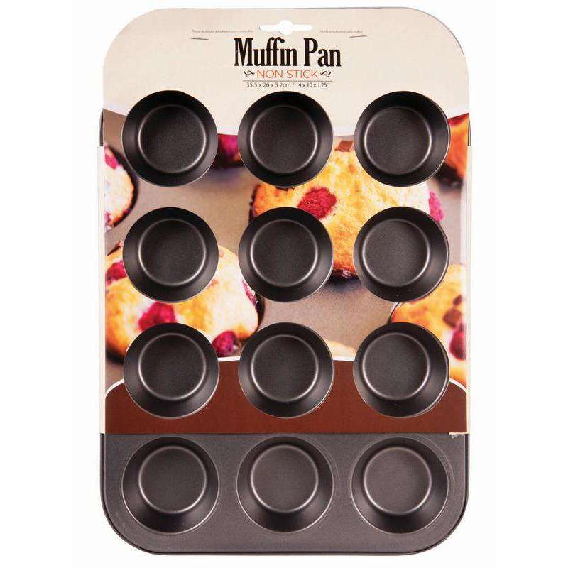 Non Stick Muffin Pan 12 Cup 35.5x26x3.2cm
