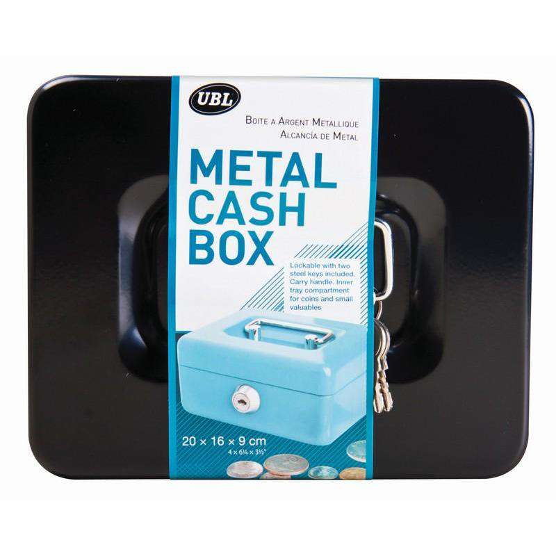 Cash Box with Tray Metal