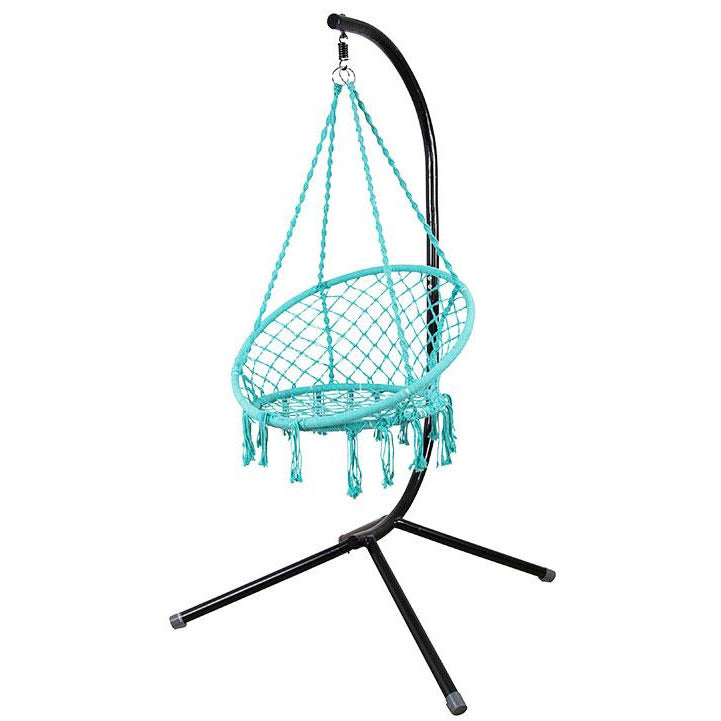 Macarame Turquoise Chair With Stand