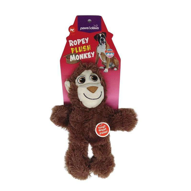 Pet Toy Ropey Plush Monkey 29cm