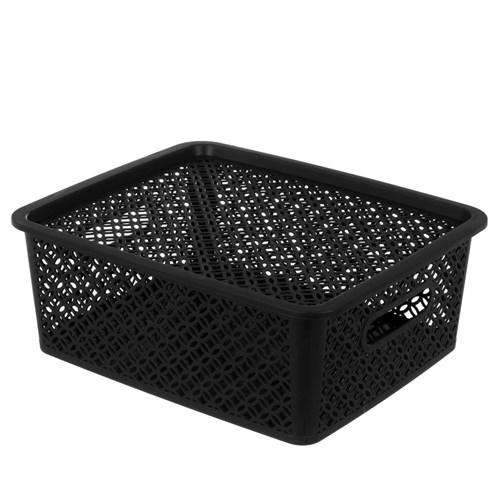 Medallion Basket with Lid 14.5L 4 Assorted Colours