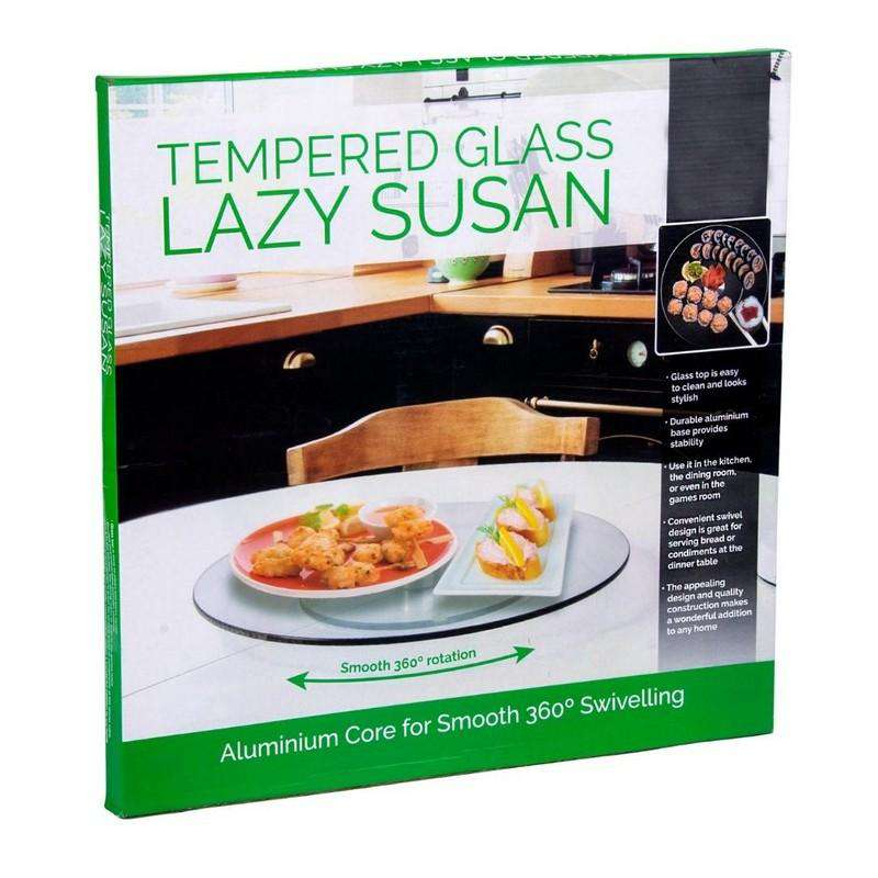Tempered Glass Lazy Susan 35cm