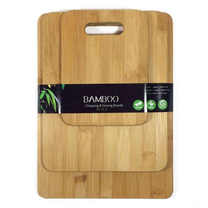 Bamboo Chopping & Serving Boards 3pcs