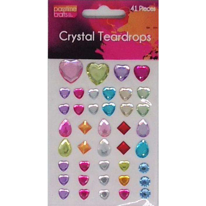 Buy onilne Mont Marte Crystal Teardrops Self Adhesive 41 Pack | Dollars and Sense cheap and low prices in australia