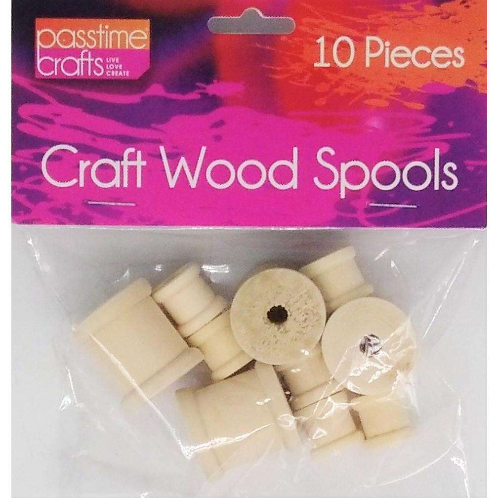 Craft Wood Spools Assorted Sizes 10 Pack