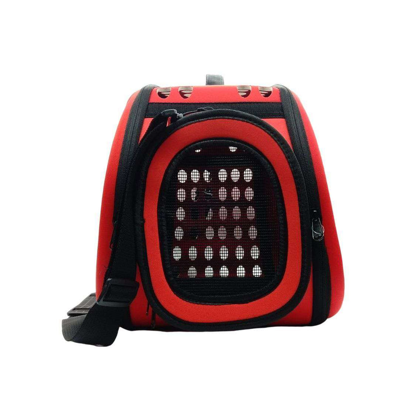Dog Carrier with Ventilation Red