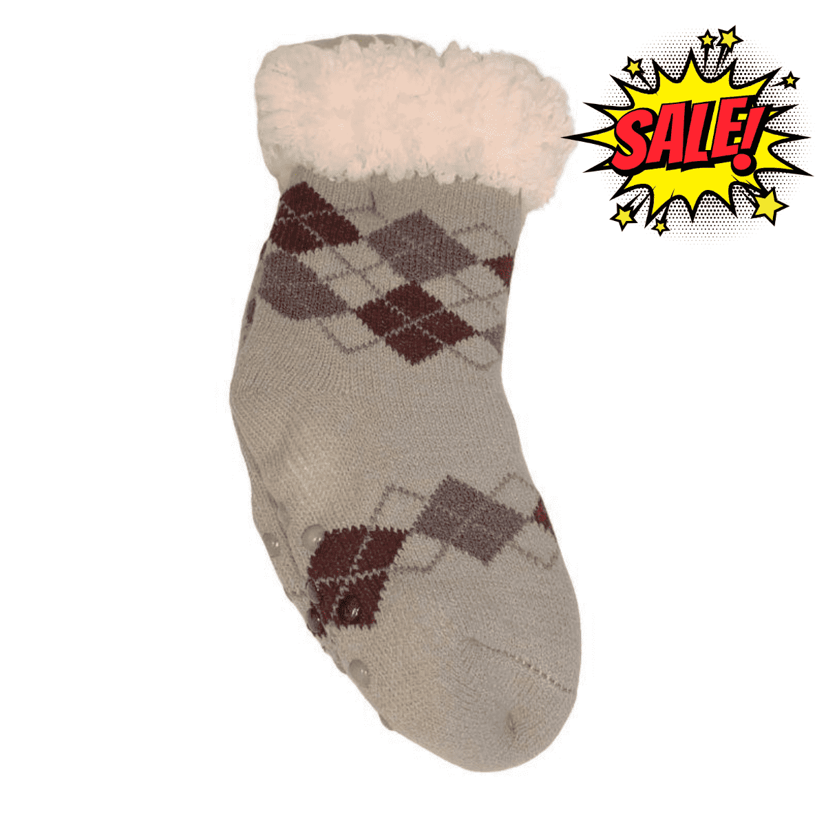 Boys Sherpa Socks - Light Grey