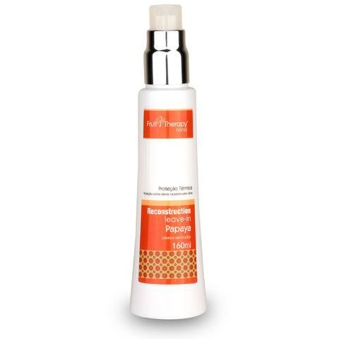 Leave-in Papaya Fruit Therapy Nano 160ml Cabelo Danificado - Left Cosméticos
